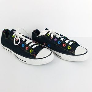 Converse All Star Black Polka Dots Double Lace 10